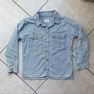 AMERICAN EAGLE OUTFITTERS Striped Collar Top